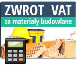 Zwrot podatku VAT za materiały budowlane